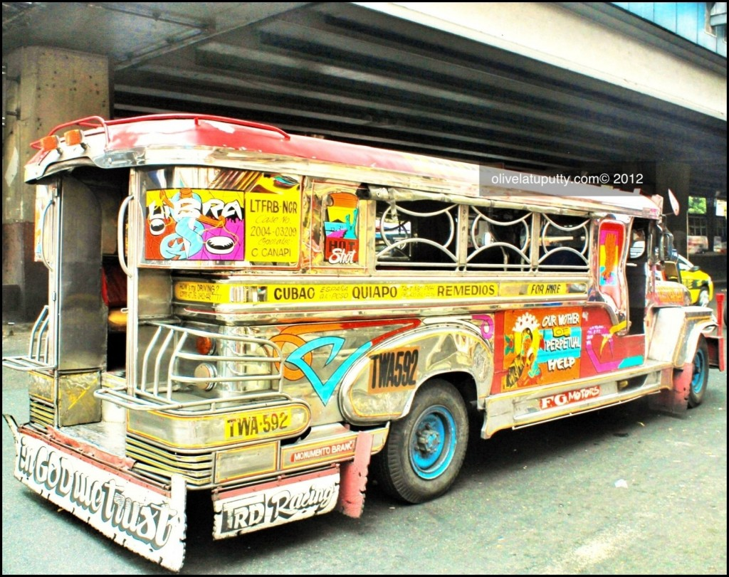 typical 'jeepney' - public transport in Manila