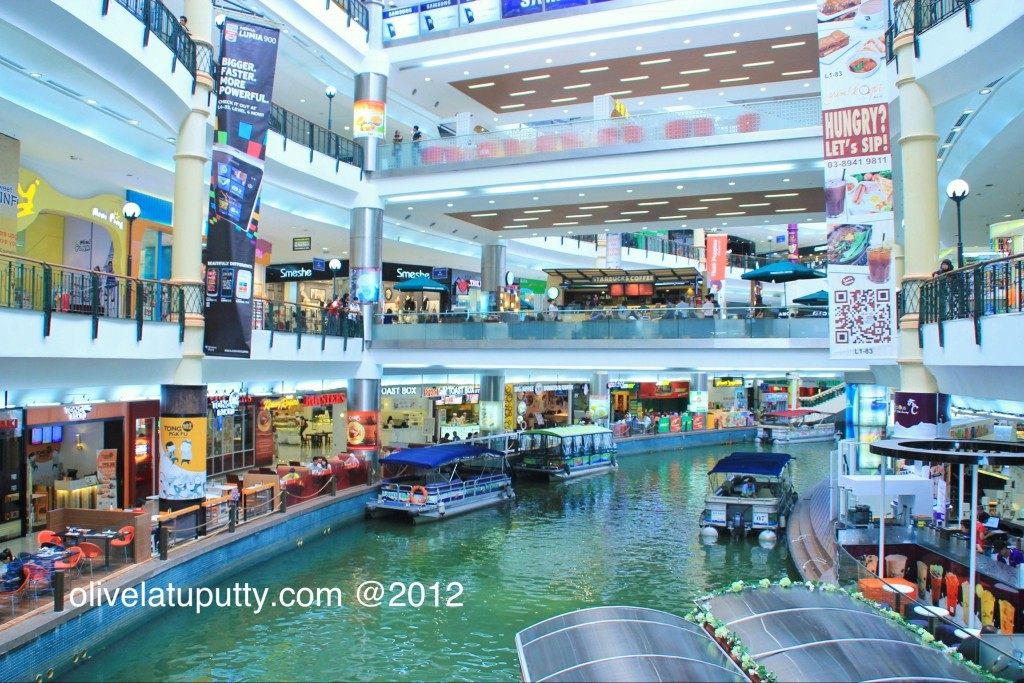 the boats in the mall