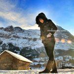 me & Swiss Snow at Grindelwald Ski Resort