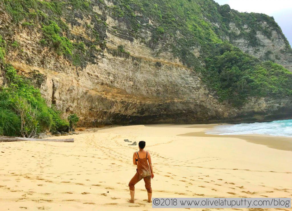 turun ke klingking beach nusa penida