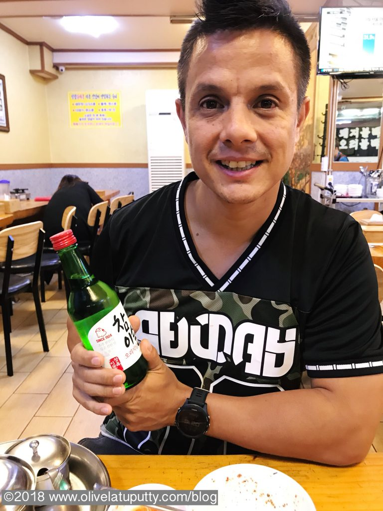 Hubby and his soju